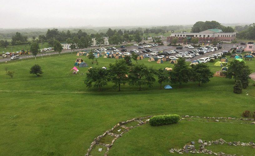 しのつ湖公園キャンプ場の展望台からの眺め