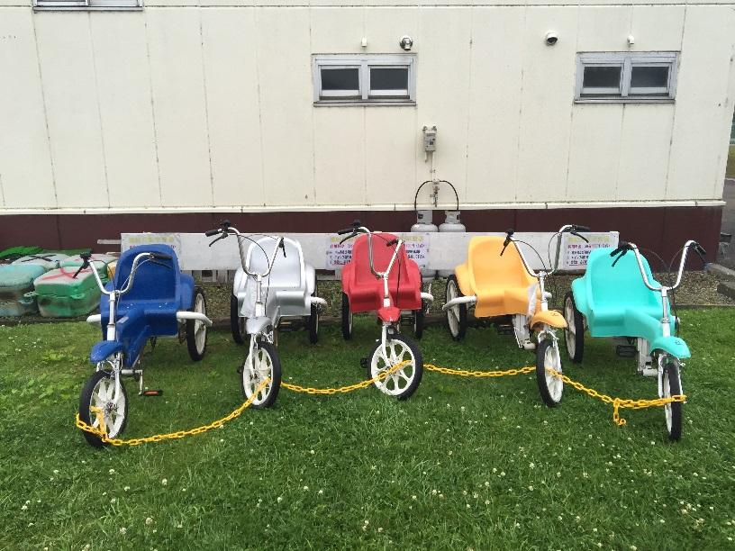 しのつ湖公園キャンプ場の有料自転車。