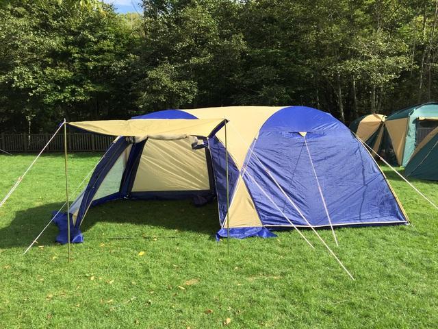 テント一人で建てたもん!