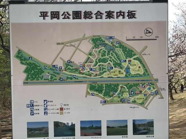 平岡公園総合案内図。梅林の位置が記されていてわかりやすい。まぁ、これ見ないでも花見ればわかるけれど。