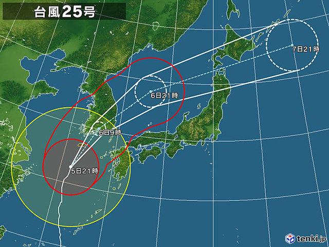 台風25号が接近。この週末に。