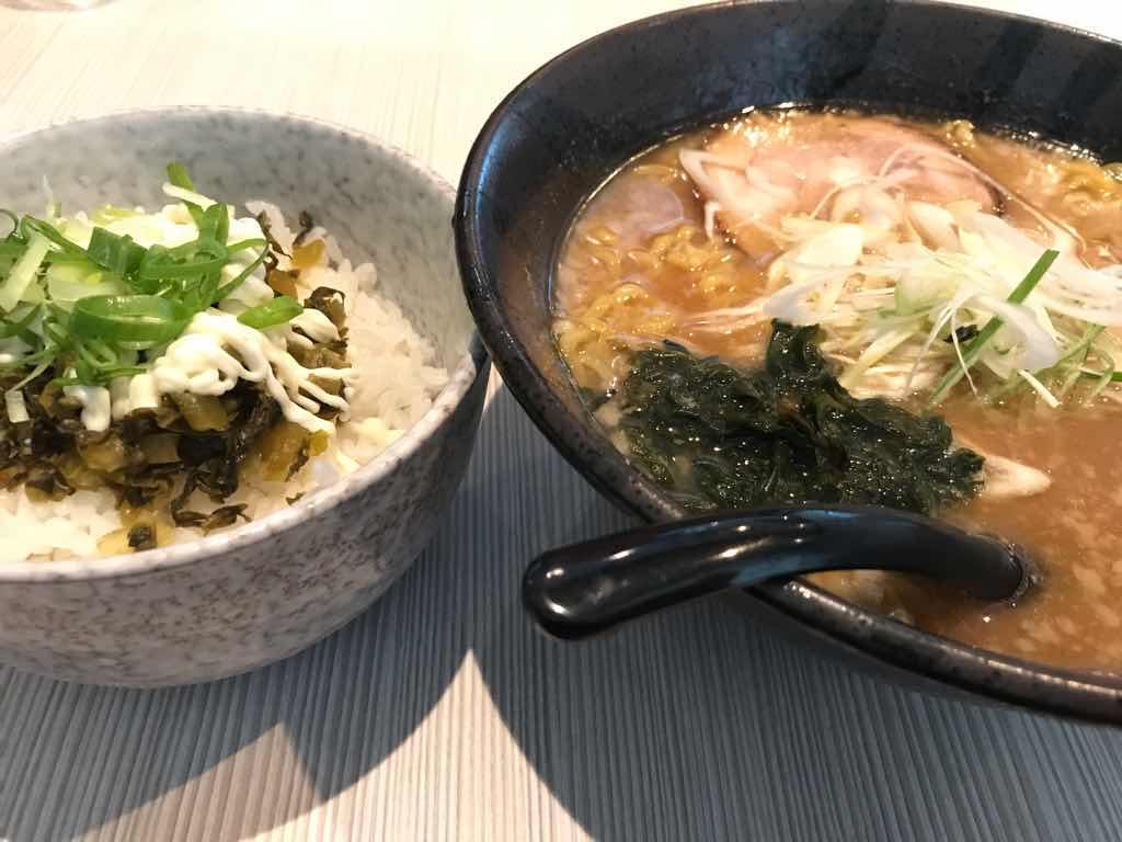 らーめん和(かず)の醤油ラーメンセット(高菜マヨネーズご飯)