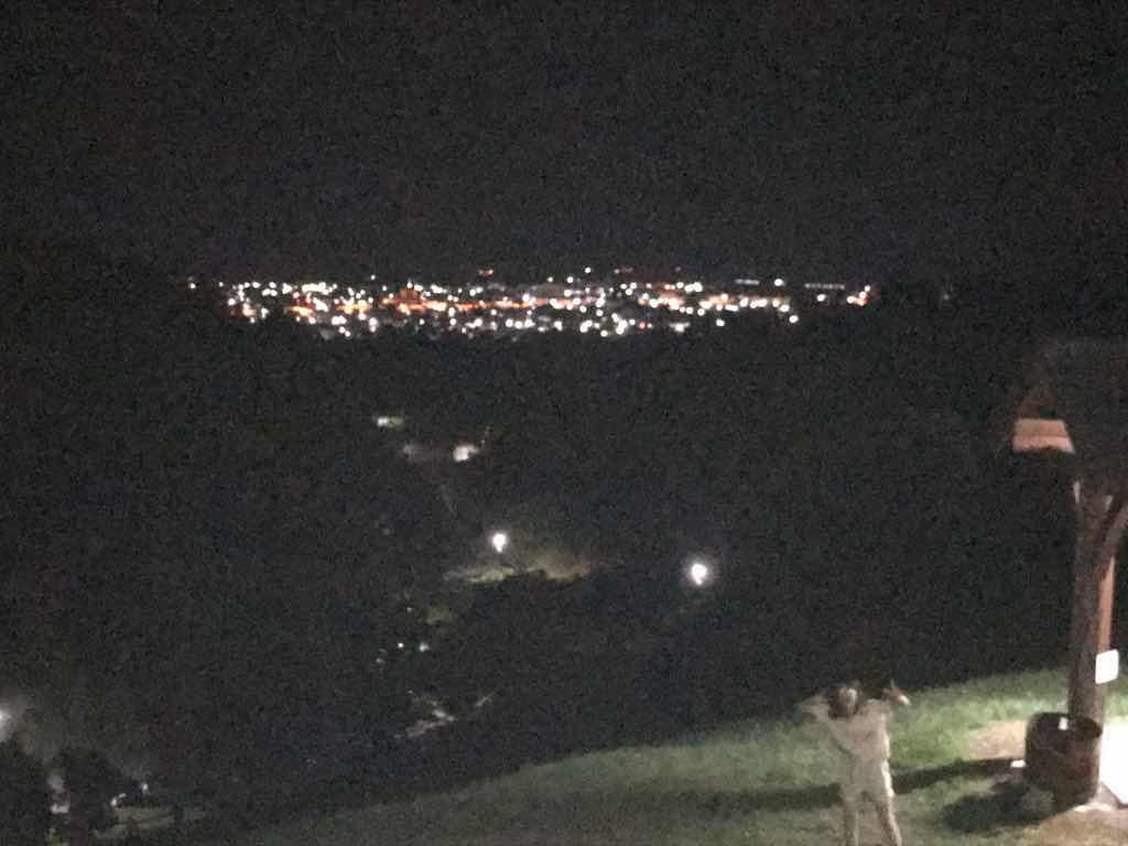 美幌町の夜景。